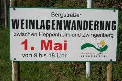 Bensheim bei der Weinlagenwanderung