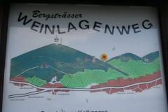 """Wanderweg """"Weinlagenweg"""" zwischen Zwingenberg und Heppenheim"""