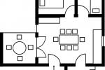 Grundriss der Ferienwohnung Horster in Bensheim