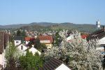Aussicht auf Bergstraße+Odenwald (im Stammhaus).