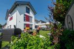 Das Apartmenthaus Horster in einem verkehrsberuhigtem Wohngebiet mit Relaxgarten