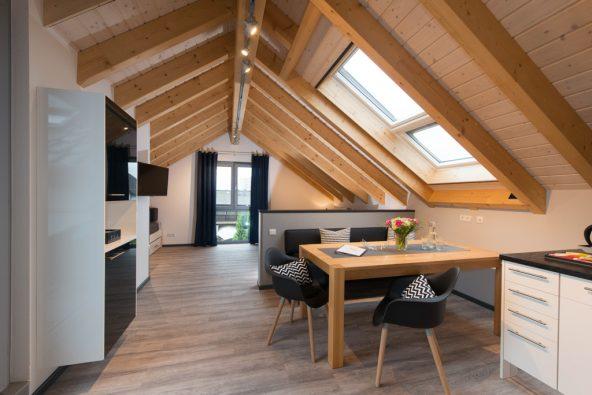 Die Ferienwohnung Dach-Loft, als sie fertig gestellt war