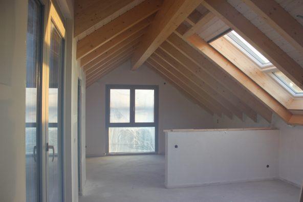 Die Ferienwohnung Dach-Loft, als sie noch nicht fertig gestellt war.