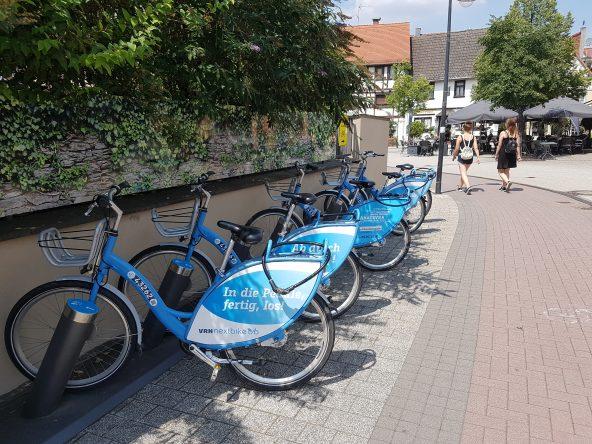 10 Leihstationen für Fahrräder finden Sie überall im gesamten Stadtgebiet