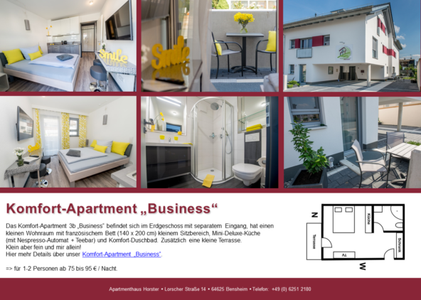 "Komfort-Apartments ""Business"" im Apartmenthaus"