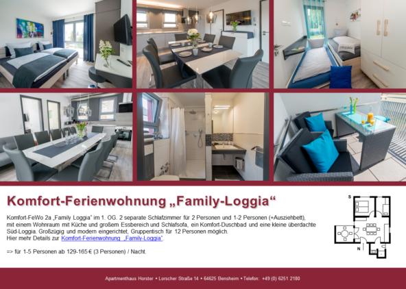 """Komfort-Ferienwohnung """"Family-Loggia"""" im Apartmenthaus"""