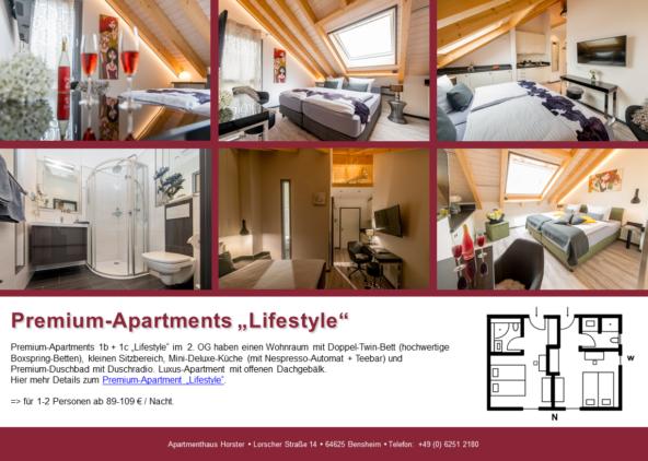 """Premium-Apartments """"Lifestyle"""" im Apartmenthaus"""
