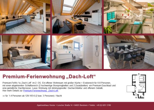 """Premium-Ferienwohnung """"Dach-Loft"""" im Apartmenthaus"""