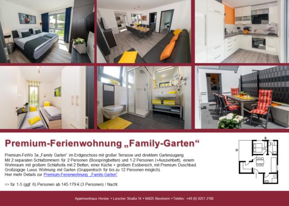"""Premium-Ferienwohnung """"Family-Garten"""" im Apartmenthaus"""