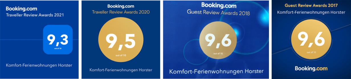 Booking.com-Awards 2017 bis 2021