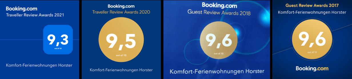 Booking.com-Awards 2017 bis 2021