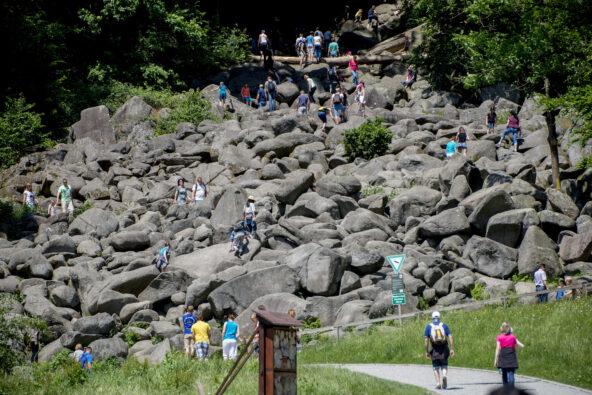 Felsenmeer - Spaß pur beim Ersteigen der Felsen